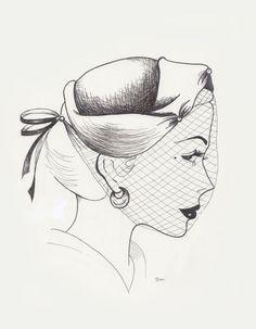 Vintage Hat Sketch One by LunaLoveBunny on deviantART