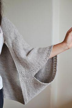 Knitted kimono pattern