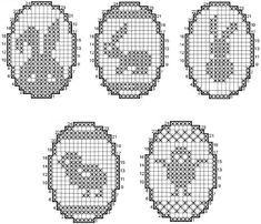 Easter Crochet Patterns, Crochet Symbols, Filet Crochet, Crochet Projects, Cross Stitch, Quilts, Embroidery, Knitting, Canvas