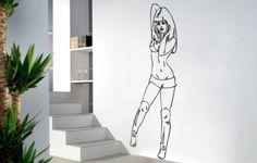 Sexy Girl Art Vinyl Wall Art Decal (WD-0125)Buy Now$29.99