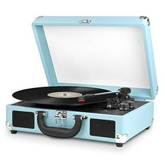 Innovative Technology Nostalgic 3-Speed Vintage Bluetooth Suitcase Turntable, Turquoise Innovative Technology http://www.amazon.com/dp/B00UMVVUOC/ref=cm_sw_r_pi_dp_Qdsqwb01R0SG3
