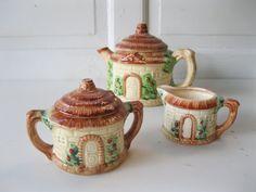 MidCentury JapaneseMade Cottage Tea Set Teapot by tessiemay, $43.00