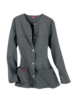 Dickies Gen Flex Youtility round neck scrub jacket. Main Image