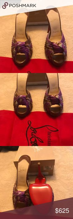 Christian Louboutian Shoes Christian Louboutin Mules Madeleine New in box with shoe bag these were bought from Saks are are beautiful and will go with everything in your closet check out my other listings Christian Louboutin Shoes Sandals