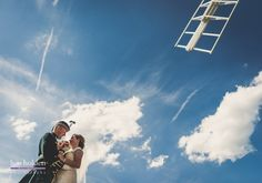 bride and groom at cley windmill