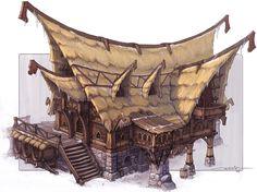barbarian house by Artyom Vlaskin