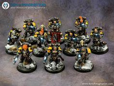 Den of Imagination has gone wolfy with this incredible Epic Space Wolves Army! Warhammer 40k Space Wolves, Warhammer 40000, Wolf Character, Wolf Painting, Warhammer 40k Miniatures, Painting Services, Angel Of Death, Space Marine, The Incredibles