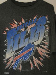 vintage 90s Buffalo Bills XXL T-shirt Buffalo breaking thru Glass   #SpectatorSportswear #BuffaloBills