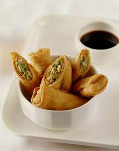 Snack Recipes, Snacks, Le Chef, Egg Rolls, Empanadas, Allrecipes, Sushi, Chips, Mexican