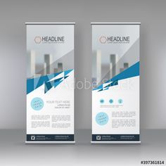 Roll up banner stand brochure flyer vertical template design, covers ,infographics ,vector abstract geometric background, modern x-banner and flag-banner advertising design element - Buy this stock vector and explore similar vectors at Adobe Stock Corporate Presentation, Banner Stands, Web Design, Graphic Design, Flag Banners, Geometric Background, Banner Template, Advertising Design, Banner Design