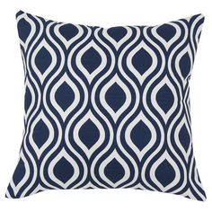Set of two cotton pillows with an ogee motif. Made in Council Bluffs, Iowa.  Product: Set of 2 pillowsConstruction M...