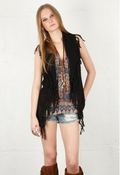 Crochet vest! Love!