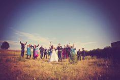 Group photo! Everybody jump! #minneapolisweddingphotographer