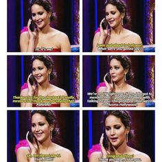 Jen calls her brother during an interview.