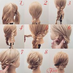 三つ編みのまとめ髪✨ 1,どちらかの横の髪を分けます(今回は右の髪を分けときます) 2,それ以外の髪を左寄りに結びます 3,くるりんぱして三つ編みします 4,横の髪を三つ編みします 5,横の髪を3番のくるりんぱに入れます 6,横の髪をピンで留めます 7,後ろの三つ編みを右後ろぐらいにピン留めします 8,留めると写真のようになります Fin,飾りをつけて崩したら完成です。 今回は右横の髪を残したやり方ですが左横を残すやり方でもやり方は一緒です。 参考になれば嬉しいです^ ^ #ヘア#hair#ヘアスタイル#hairstyle#サロンモデル#サロンモデル撮影#サロンモデル募集#撮影#UP#編み込み#三つ編み#フィッシュボーン#ロープ編み #アレンジ #結婚式 #SET#ヘアアレンジ#アレンジ動画#グラデーションカラー#アレンジ解説#香川県#高松市#美容室#美容院#美容師#berry