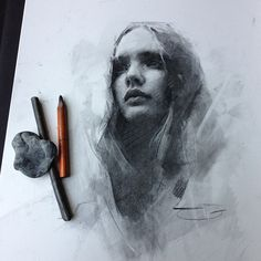 figurative portrait drawing, Casey Baugh