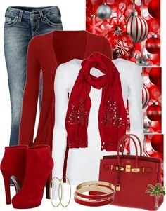 5 casual christmas party outfits – Page 4 of 5 – Fest Time Girls Christmas Outfits, Christmas Fashion, Winter Fashion, Christmas Party Outfit Casual Jeans, Christmas Photos, Red Christmas, Christmas Time, Christmas Clothes, Christmas Ideas