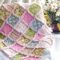 Baby Rag Quilt Rose Garden