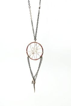 Dreamcatcher Necklace - Floral Red by HOWL on ILWYW
