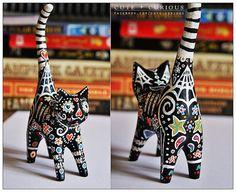 sugar skull cat gift   Flickr - Photo Sharing!