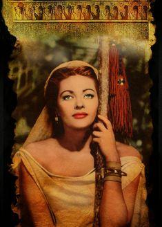 Yvonne De Carlo - The Ten Commandments - 8 X 11 Metek Artwork Classic Actresses, Beautiful Actresses, Lily Munster, Prince Of Egypt, Epic Film, Yvonne De Carlo, Bob, Ten Commandments, Great Movies