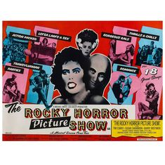 """""""The Rocky Horror Picture Show"""" Original British Film Poster, John Pasche, 1975   From a unique collection of antique and modern posters at https://www.1stdibs.com/furniture/wall-decorations/posters/"""