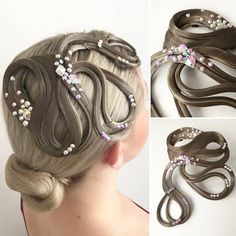 Dance Hairstyles, Hair Decorations, Professional Look, Hairspray, Hair Pieces, Latina, Dresses For Sale, Hair Color, Hair Accessories