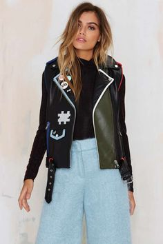 American Retro Game Girl Color Leather Vest | Shop Clothes at Nasty Gal!