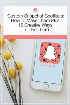 Custom Snapchat Geoftilers, are they right for your brand? How to create them, design tips, best practices PLUS 16 creative ideas for using them to generate brand awareness + community involvement! Pin now then click through to learn more.