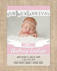 diy birth announcement