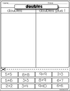 math worksheet : 1000 ideas about doubles addition on pinterest  doubles facts  : Doubles Addition Facts Worksheets