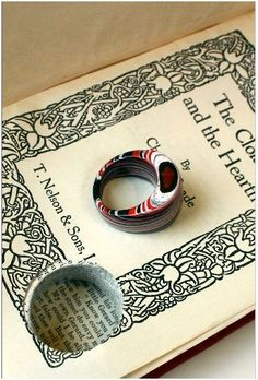 Literary Jewels - Paper Rings From Books