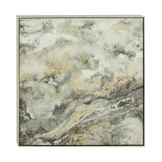 Abstract Green Marble Framed Canvas Art Print