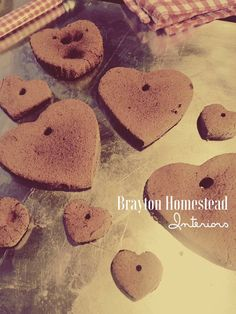 Making cinnamon hearts for Valentine's Day at the Brayton Homestead! Makes my home smell amazing. Visit my blog for the recipe: http://braytonhomesteadinteriors.blogspot.com/2017/01/smells-great-looks-great.htm