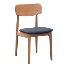 Style up your dining space with the Scandinavian-chic Denis Side Chair from Curio. Crafted from choices of European Oak and American Walnut for strength and sturdiness Natural finish and rounded edges for a sleek Nordic look Cushioned seat and curved bac