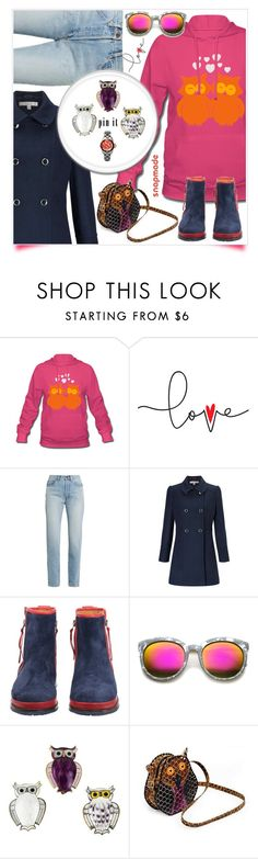 """""""pin a lovely owl"""" by katymill ❤ liked on Polyvore featuring Yves Saint Laurent, Miss Selfridge, ZeroUV and NOVICA"""