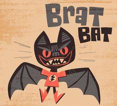 "84 Likes, 2 Comments - Jon Kelly Green (@jonkellygreen) on Instagram: ""A bratty bat for my first day of a week full of Halloween designs. #jkgreenhalloween #halloween…"""