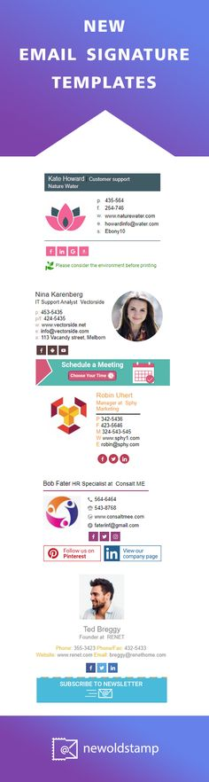 New email signature templates by NEWOLDSTAMP
