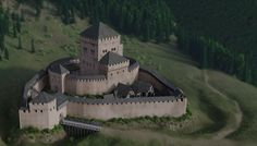 Reconstruction of the 11th Century  Schloessel Castle by Christoph Fahrion on ArtStation