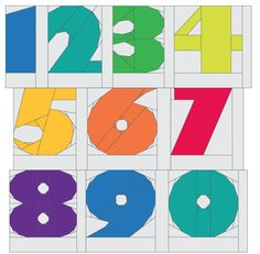 MyABCs: Numbers & ... by DianeBohn | Quilting Pattern - $8.00 pdf download