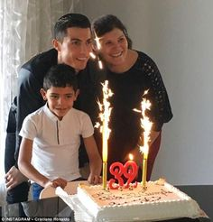 No 6: Ronaldo celebrated his 32nd birthday with his mother Maria and son - liked by 3.6m fans