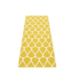 OTIS plastic rug, mustard/vanilla, Pappelina