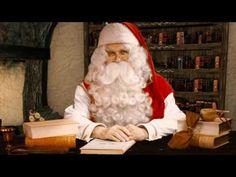 Video message from Santa Claus in Rovaniemi in Lapland
