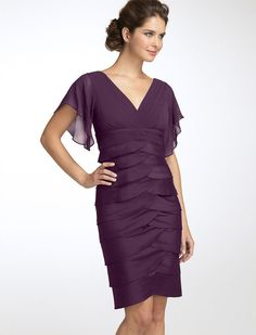Trumpet/mermaid Short Purple Mother Of The Bride Evening Dress-EB-485170083-US$99