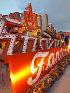 The Neon Museum, Las Vegas. This is a must...photo shoot here with a big group of girls? I've wanted to hit this place for years.