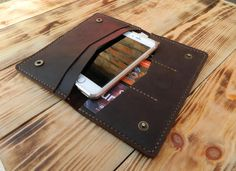 Leather passport wallet Leather iphone 6 wallet Leather