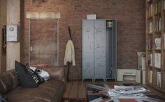 Fém öltözőszekrény loft és ipari design bútor