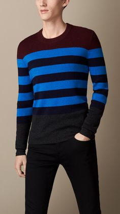 Pull color-block à rayures | Burberry
