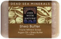 One With Nature Shea Butter Dead Sea Mineral Soap  7 Ounce Bars Pack of 6 #OneWithNature