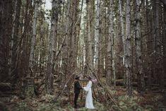 boho forest wedding tipi